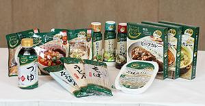 無菌米飯やカレー、麺、調味料など多様なカテゴリ―で14SKUを品揃えした「からだシフト」