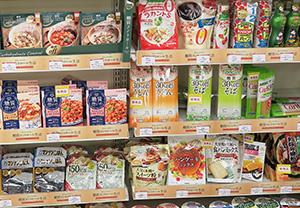 製配販3層で糖質オフへの取組み強化が進む(写真は三菱食品が2017ダイヤモンドフェアで行った売場提案)
