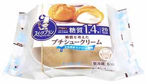 糖質を考えたプチシュークリーム
