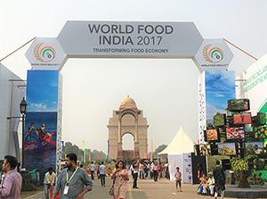 ワールドフードインディア2017の展示会場ゲート