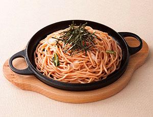 もっちり麺の焼き明太ジャポネーゼ