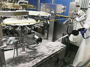 2015年に導入した泡洗浄機により、飛躍的に清浄度が上がった
