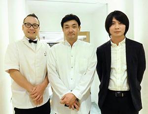 左から吉田善兵衛、川島宙、中家雅人の各氏