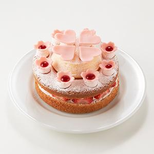 デコレーションに使うオリジナルケーキ「みんなで咲かそう森の100年桜」