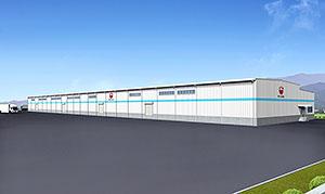 「大町アルプス工場」の完成予想図