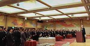 製配販3層から今年も多数参加した新年交礼会