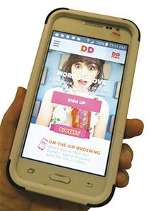 「ダンキンドーナツ(アメリカ)」のモバイル専用アプリ