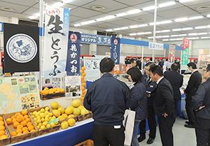 関心を集めた瀬戸内産柑橘や自社開発商品の「『生』豆腐」