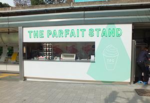 券売機スペースを有効活用したパフェ専門店「THE PARFAIT STAND」