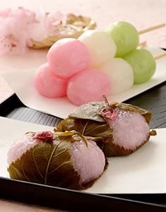 団子と桜餅