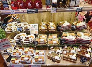 畜産部門の銘柄肉を使った惣菜コーナー
