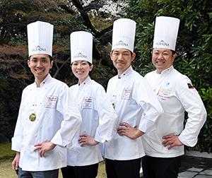 (写真左から)日本代表として本選出場する伊藤文明氏、西山未来氏(リーダー)、小熊亮平氏、五十嵐宏氏(団長)