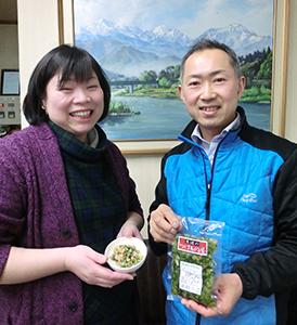 地域の野沢菜生産の活発化に意欲を示す桜井康司・美樹子夫妻