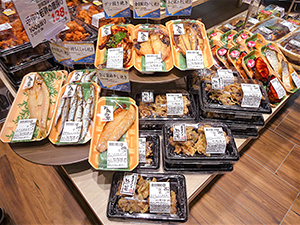 生鮮素材を使った惣菜でメニューの幅を広げる