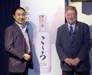 内田茂社長(左)とC.W.ニコル氏