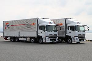 新たな共同配送では配送回数の削減や積載率向上が期待されている(写真は今回の共同配送を担うトラック)