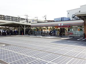路面型の太陽光パネルなど最新の環境配慮技術を導入の相模原橋本台1丁目店