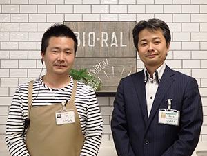竹下太氏(左)と井上修一氏