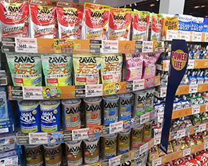 食品SMもプロテインや関連製品の売場を拡大し始めた
