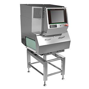 従来機では検出できなかった0.5㎜の骨の検出ができる高感度化したデュアルエナジーセンサーを採用したX線検査機「XR75」