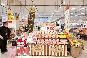 マンゴー売場(宮崎マルシェ)