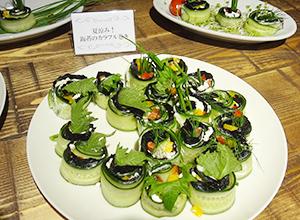 インスタグラマー向け試食会で紹介したメニュー。栄養素だけでなく、野菜との相性の良さを伝えた