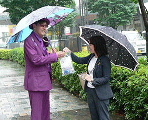 西永裕司社長も「鍛高譚」ファッションで登場