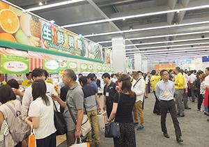 「生鮮戦略」コーナーでは一括物流に対応するための生鮮、日配品などを提案