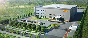 台湾食研食品股〓(フン)有限公司の本社工場外観イメージ