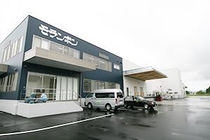 モランボンプロダクツの津山工場外観
