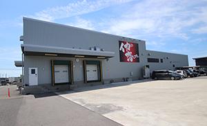 日本海東北自動車道・酒田ICから車で約1分、酒田京田西工業団地に位置する山形飛鳥 京田工場