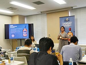 サビーヌ・シーハン氏を講師に迎え、ブランドセミナーを開いた(7月30日、東京のキャプランワインアカデミー)