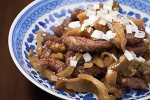 牛肉とザーサイの炒め物