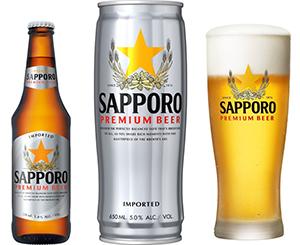 現地で展開する「サッポロプレミアムビール」