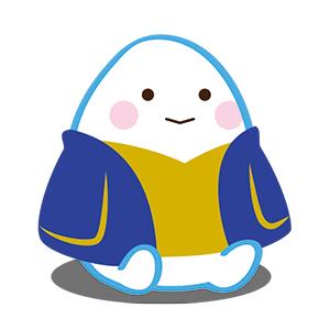 イメージキャラクターの「こめつぶ丸」。LINEスタンプ販売中