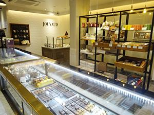 「La maison JOUVAUD 京都祇園店ブティック&サロン」店内