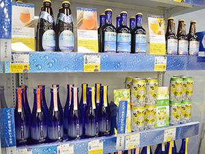卸を起点とした価値提案として期待されるチルドの酒。三菱食品はビール、清酒、RTDでオリジナルブランドを展開する(同社ダイヤモンドフェア)