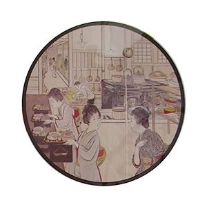 洋食を振る舞う明治の外食風景(農林水産省「明治150年」特別展示ポスターから)