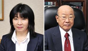 代表取締役会長 松谷英次郎(右)、代表取締役社長 松谷晴世