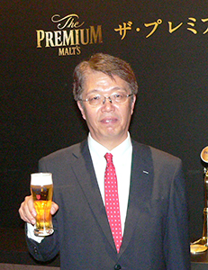 「神泡提案で三方よし」と語る山田賢治サントリービール社長
