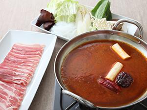 「麺&鍋大陸麻辣火鍋」しゃぶしゃぶ