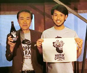 サッポロビールの林直樹取締役執行役員(左)とキッチハイクの山本雅也社長