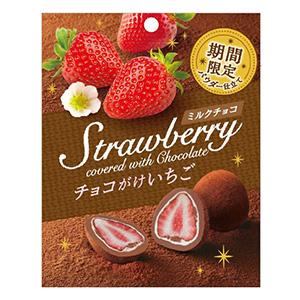 「チョコがけいちご〈ミルクチョコパウダー仕立て〉」