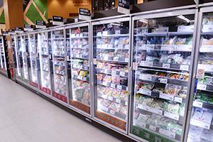 食卓のメーン商材が伸びている冷凍食品売場