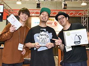 日本一の座を勝ち取ったSTREAMER COFFEE COMPANY。左から馬場健太氏、柳尚道氏、松本将大氏
