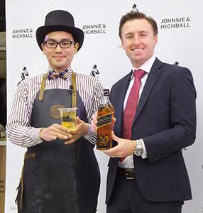 バーテンダーの藤井隆氏(左)とキリン・ディアジオ取締役企画部ディレクターのダン・ハミルトン氏