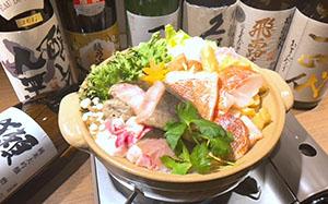 縞ホッケと赤魚の干物を使用した干物鍋「骨取り干物絶品だしちゃんこ」