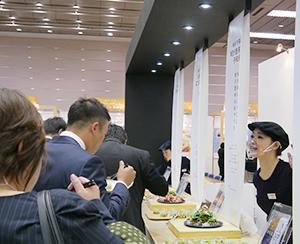 メーンコーナーでは日本の伝統的な食材や「和彩万菜」を訴求