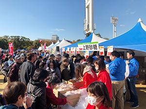 OBCラジオまつりでの上野砂糖ブース