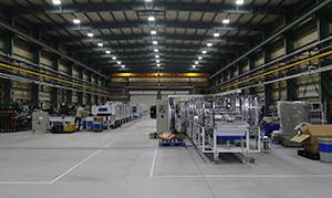 旧工場の1.5倍の規模となる入間新工場。自社で大型オーブンを組み立て、テスト稼働して、製品の品質をきちんと確認してから納品できる